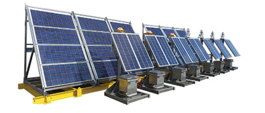 Offshore solar skid panel
